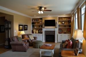 Nine foot ceilings and crown moldings throughout.