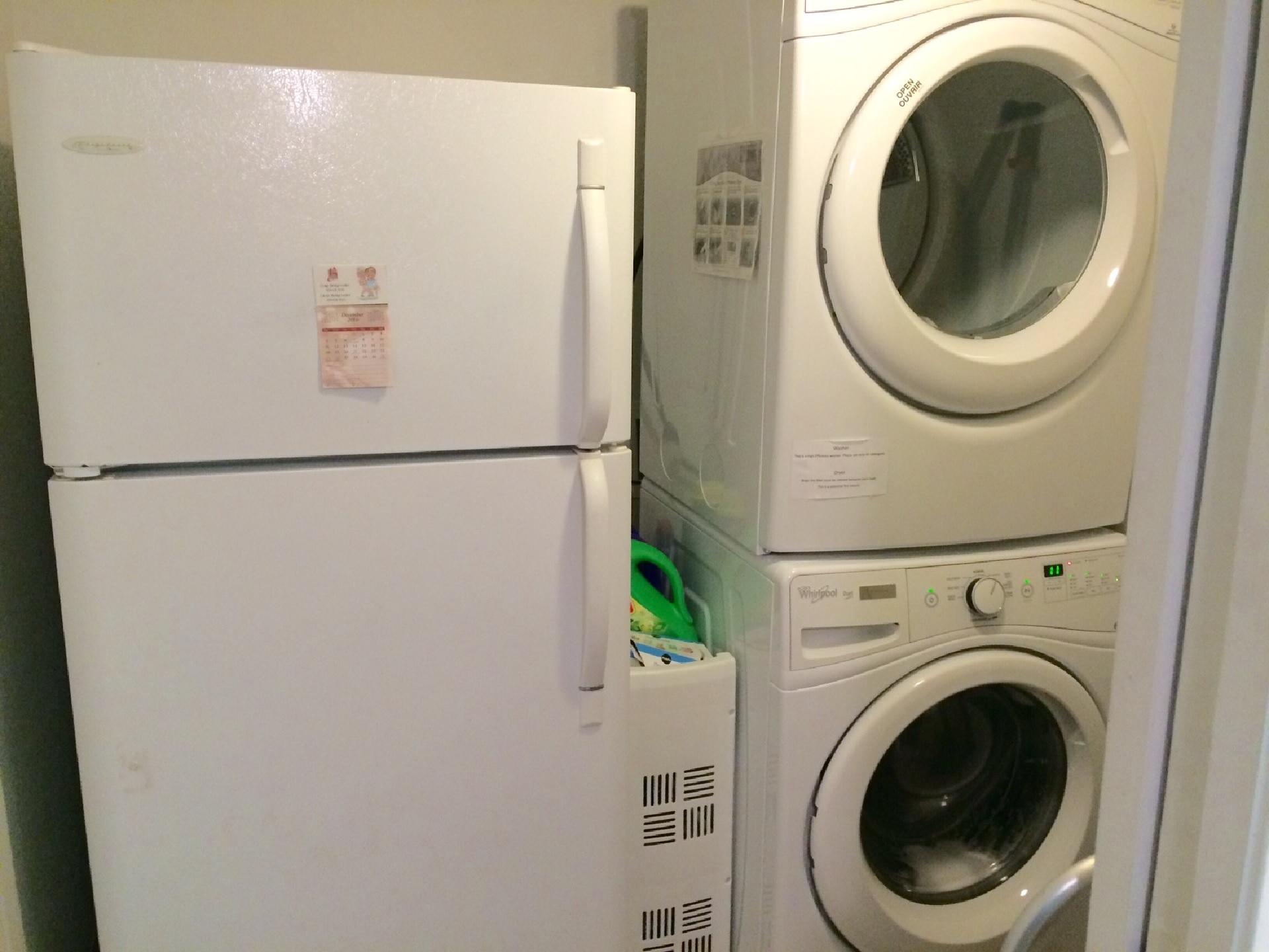 Laundry area & 2nd Fridge